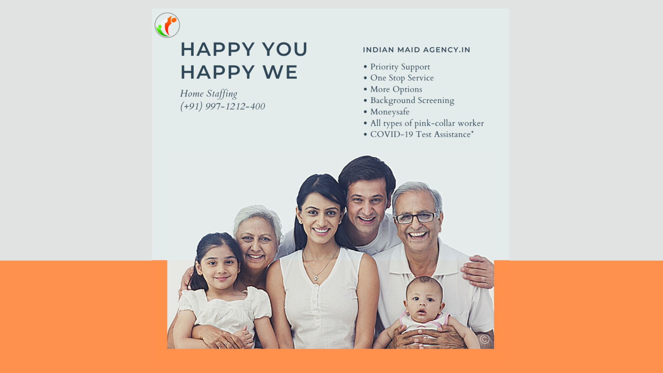 Leading Indian Maid Agency (IMA) offers unique & trustworthy services for all household needs