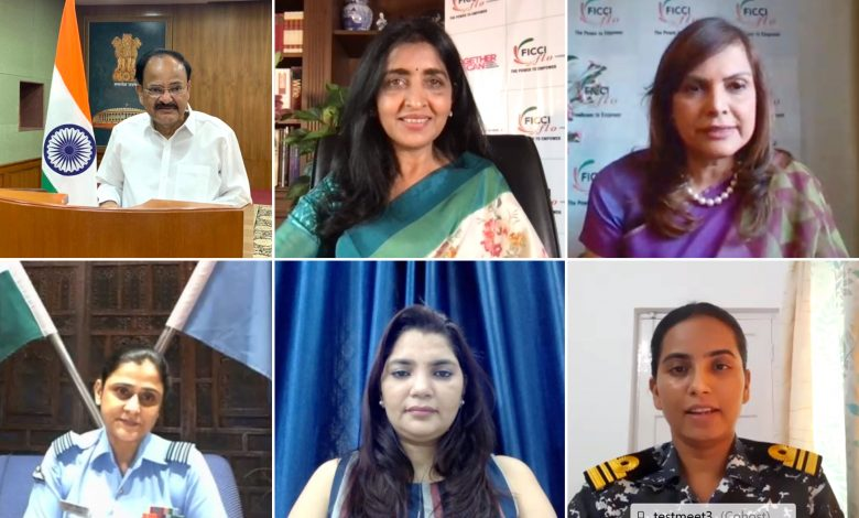 Shri Naidu virtually addresses 'Vande Mataram' event of FICCI Ladies Organization (FICCI FLO)