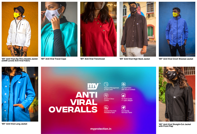'MY' launches fashionable Antiviral overalls